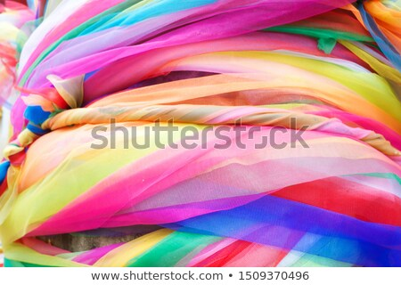Color ribbons in buddhism tradition Stock photo © dariazu
