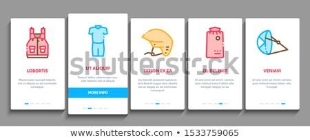 Elementos vetor móvel aplicativo página Foto stock © pikepicture