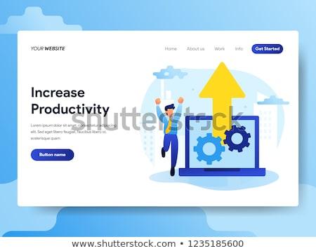 produtividade · aterrissagem · página · negócio · desenvolvimento · startup - foto stock © rastudio
