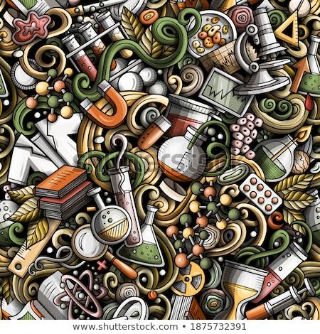 Wallpaper química laboratorio farmacia vector Foto stock © Margolana