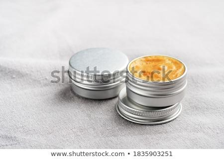 Lábio bálsamo metálico isolado branco saúde Foto stock © boggy