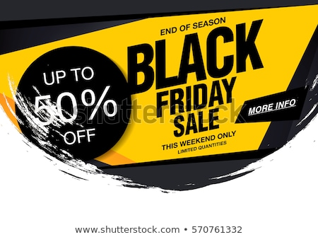 Stock photo: black friday grunge sale background in yellow color