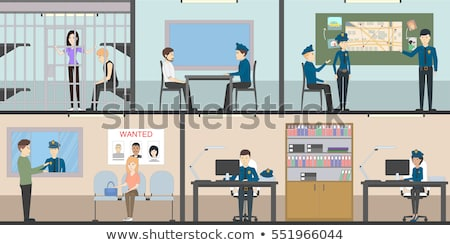 Police Department Collection Icons Set Vector Stock photo © pikepicture