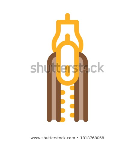 Zipper Fly Icon Vector Outline Illustration Stock photo © pikepicture