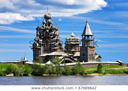 Eiland Rusland historisch plaats dating houten Stockfoto © borisb17