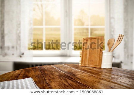 Cafe on the nature background Stock photo © cookelma
