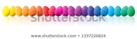 Easter eggs spettro colori alto qualità completo Foto d'archivio © ukasz_hampel