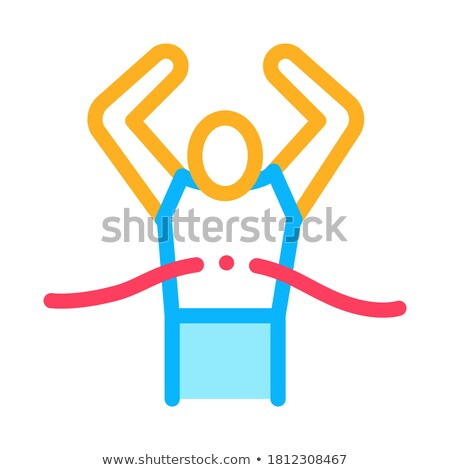 Runner Tearing Ribbon Icon Vector Outline Illustration Stock photo © pikepicture