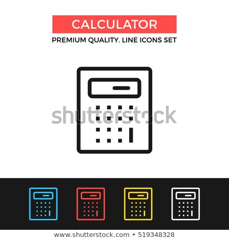 Math Calculator for Calculations Icon Vector Outline Illustration Stock photo © pikepicture