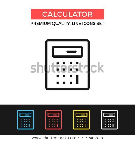 Math Rechner Symbol Vektor Gliederung Illustration Stock foto © pikepicture