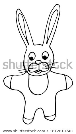 Joyeuses pâques dessinés à la main vecteur illustration couleur Photo stock © balabolka