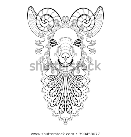 Zentangle goat head. Hand drawn decorative vector illustration Stock photo © Natalia_1947