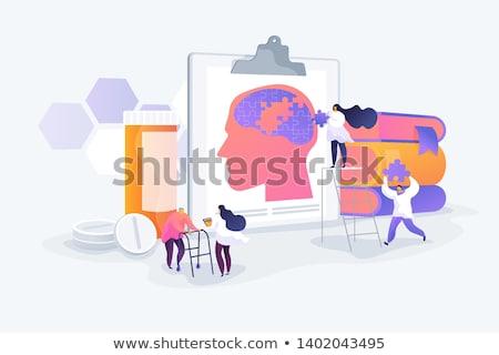 Absztrakt vektor illusztrációk szett betegség idegrendszer Stock fotó © RAStudio