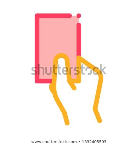 montrent · carte · icône · illustration · vecteur - photo stock © pikepicture