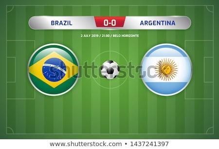 Vs Argentinië voetbal wedstrijd illustratie Stockfoto © olira