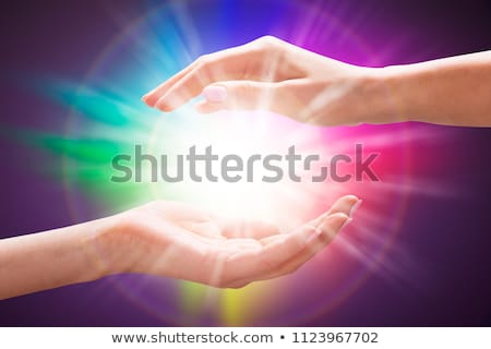 Kéz gyógyító energia fény reiki terápia Stock fotó © AndreyPopov