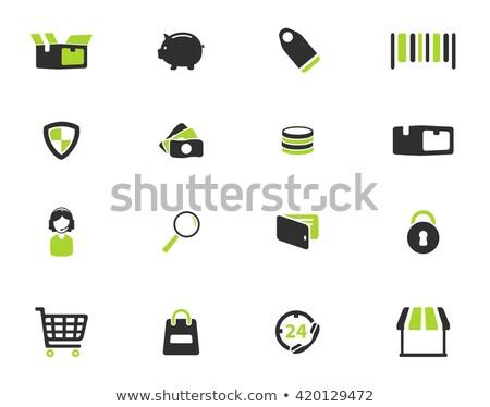 электронной коммерции просто иконки символ веб-иконы пользователь Сток-фото © ayaxmr