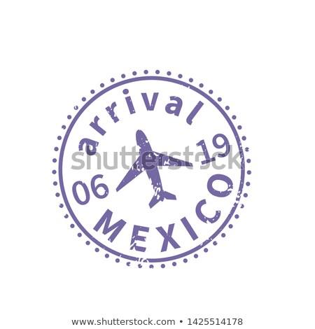 Mexikó nemzetközi utazás VISA bélyeg fehér Stock fotó © evgeny89