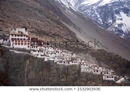 Kolostor India Himalája felhők hegy hegyek Stock fotó © dmitry_rukhlenko
