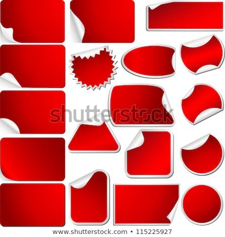 Fényes matricák szett különböző színek formák Stock fotó © fizzgig