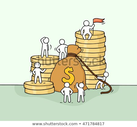Full sack with gold coins. Hand drawn Stock photo © LoopAll