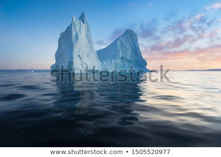 Iceberg from glacier in arctic nature landscape on Greenland. Icebergs in Ilulissat icefjord. Affect Stock photo © Maridav