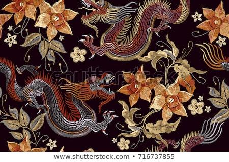 Foto stock: Clásico · japonés · brillante · caliente · colores