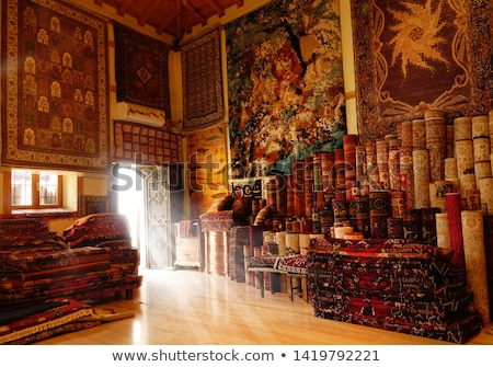 Távolkeleti szőnyeg háttér piros belső padló Stock fotó © Paha_L
