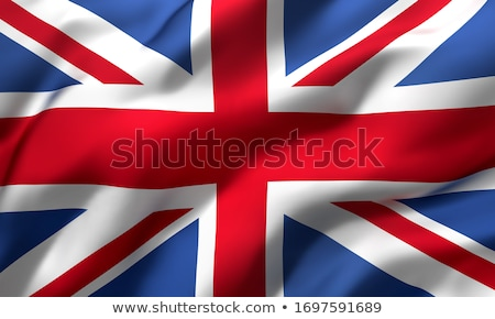british union jack flag blowing in the wind illustration stock photo © latent