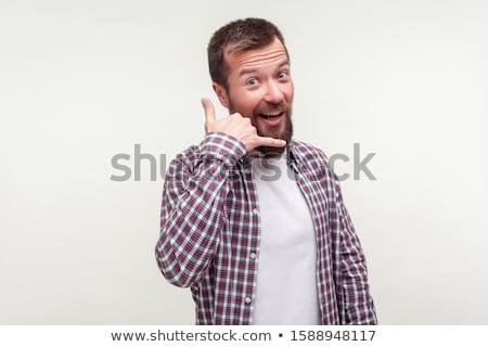 человека · жест · фотография · красивый · мужчина - Сток-фото © dacasdo