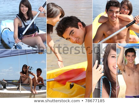 Watersport collage water sport zee zomer Stockfoto © photography33