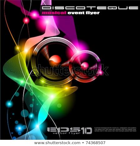 Stockfoto: Muziek · internationale · disco · evenement · poster · regenboog
