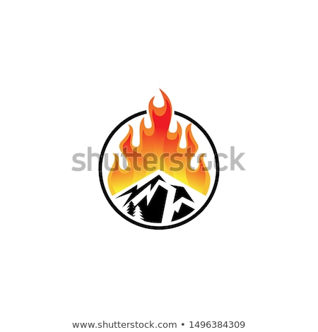 Fire and Flames Vector Icon Ilustrations stock photo © chromaco