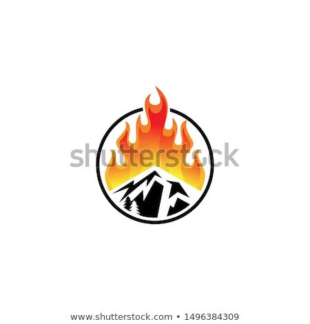 ognia · płomienie · wektora · ikona · zdjęcia · sztuki - zdjęcia stock © chromaco