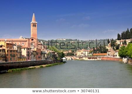Verona · Olaszország · részletek · kilátás · víz · város - stock fotó © vladacanon
