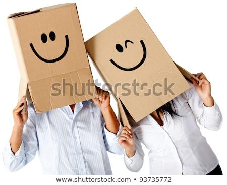 couple · déplacement · sur · sourire · boîte · étage - photo stock © photography33