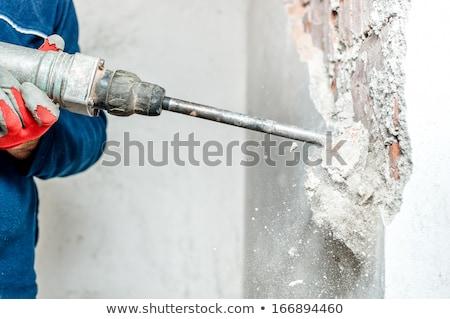 Photo stock: Plombier · forage · mur · eau · homme · industrie