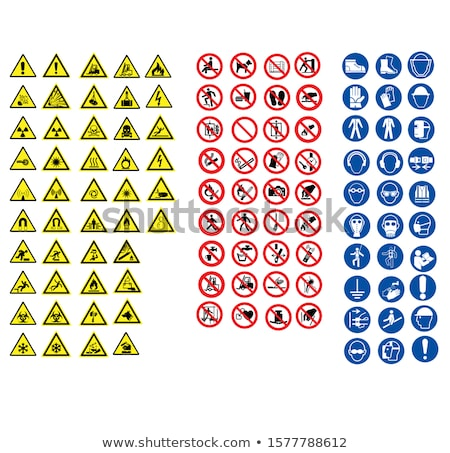 prohibited signs set icons stock photo © ecelop