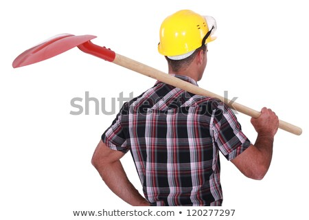 craftsman holding a shovel on his shoulder Stock photo © photography33