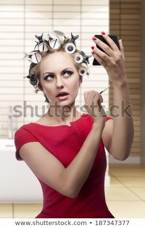 mujer · hermosa · componen · espacio · bano · piel · femenino - foto stock © photography33
