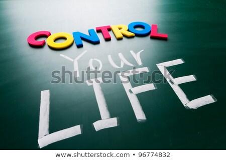 controle · leven · woorden · Blackboard · kleurrijk · business - stockfoto © Ansonstock