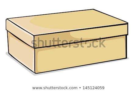 Vetor preto novo sapato caixa mulher Foto stock © Dahlia