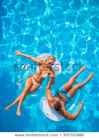couple and swimming pool 3 Stock photo © Paha_L
