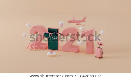 Business Jet at the Sky Stock photo © mechanik