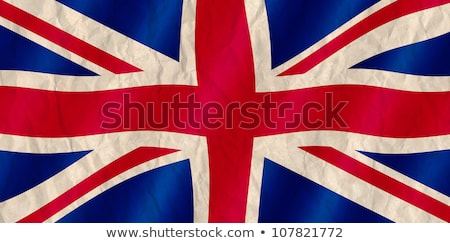 british union jack flag old crinkled effect stock photo © latent