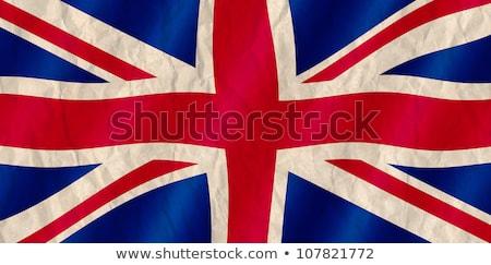 brit · zászló · zászló · Egyesült · Királyság · piros · fehér · Anglia - stock fotó © latent