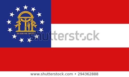 Grúzia zászló nagy illusztráció USA szalag Stock fotó © tony4urban