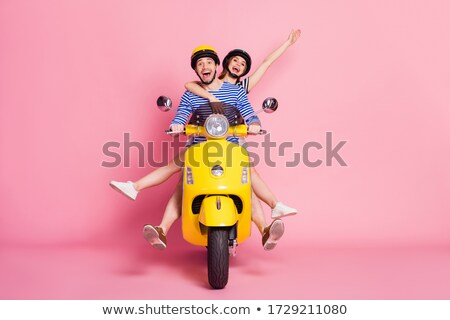 Couple on motorcycle without helmet Stock photo © photography33