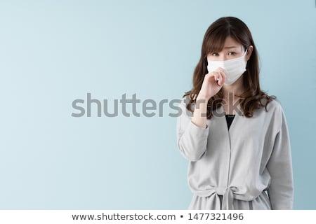 grypa · zimno · kobieta · chorych · dmuchanie · nosa · młoda · kobieta - zdjęcia stock © rob_stark