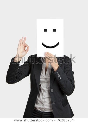 Paper Face and Yes Stock photo © devon